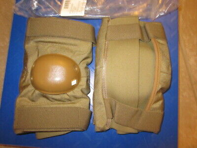 NEW USGI Military USMC Surplus Army Desert Coyote Elbow Pads LARGE in BAG