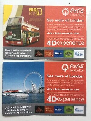 2 x London Eye Tickets valid anyday until January 2020