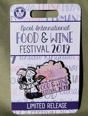 2019 Disney Parks Epcot Food & Wine Limited Release Cheff Mickey