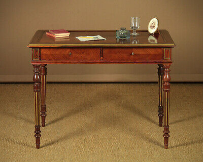Antique Brass Mounted Rosewood Writing Table c.1880.