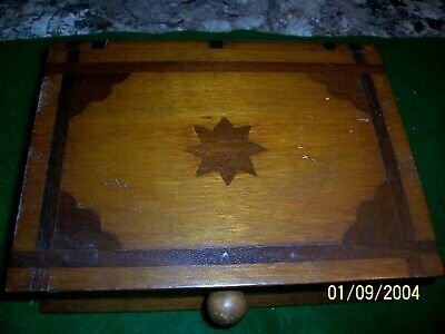 Antique Book Shape One Draw Box With Inlay Work And Hidden Draw