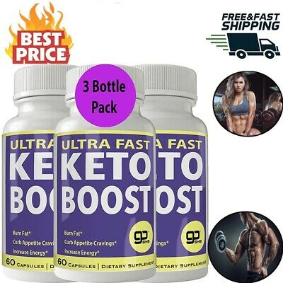 Ultra Fast Keto Boost Weight Loss Pills 800MG Ketogenic BHB Burn Fat 3 Bottle.
