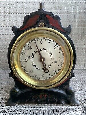 Antique Turnbull's Family Scale Brass Cast Iron Hand Painted Rare