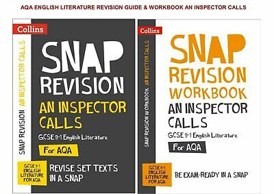 Gcse Aqa Snap Revision An Inspector Calls Workbook And Text Guide 2 Book Set