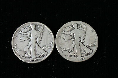 1921  P S Walking Liberty Half Dollars