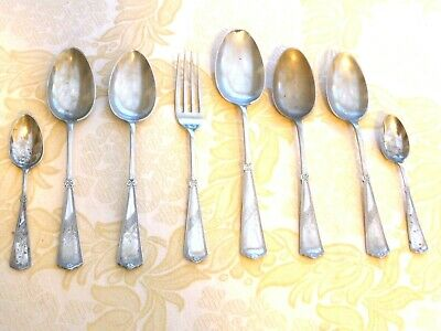 8 Pieces Of Victorian Silver Plated Repousse Pattern Cutlery    1420257/261