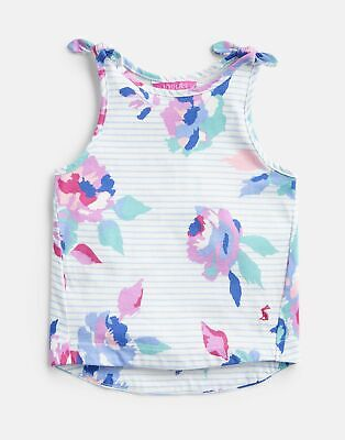Joules 204623 Printed Vest in Cream AND MULTI ROSE STRIPE Size 5yr