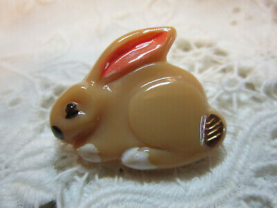 Super Cute Vintage Realistic Glass Bunny Rabbit Button