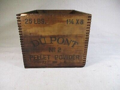 Dupont Dynamite  Box Wood Crate calendar NO RESERVE jointed