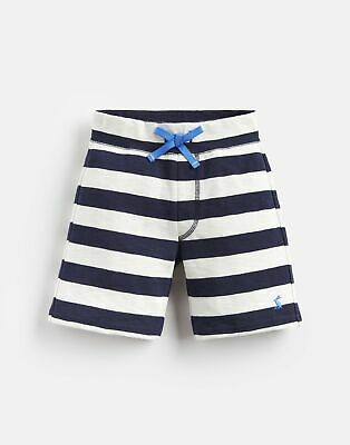 Joules Boys Bucaneer Jersey Short 1 6 Yr in CREAM NAVY STRIPE Size 6yr