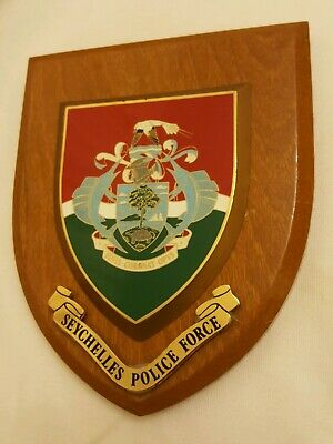 Seychelles Police Force  plaque shield crest Constabulary