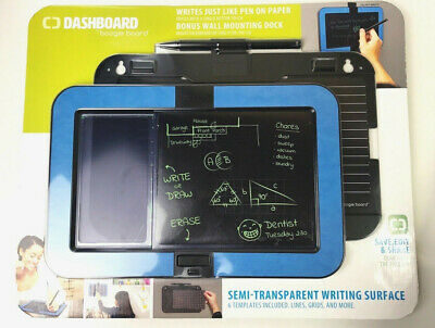 Boogie Board Dashboard Wall Mount E-Writer With Stylus & 6 Templates