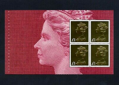 GB 2017 Booklet pane MACHIN DEFINITIVE ANNIVERSARY  SG U3966a  MNH / UMM FV£4.00