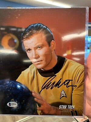 WILLIAM SHATNER Signed 8x10 Photo STAR TREK Captain Kirk Autograph BECKETT COA