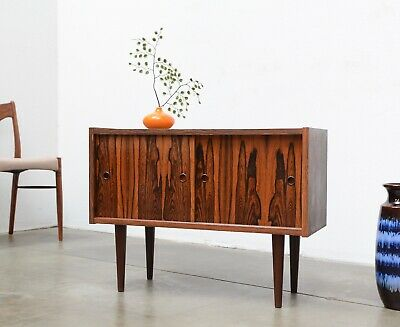 Danish Modern Rosewood Mini Credenza Entry Chest Table Mid Century Vintage