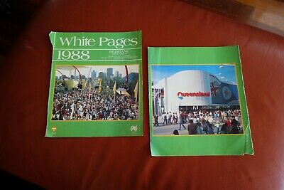 expo88 Brisbane White pages telephone book - front and back covers only