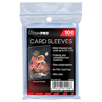 1000 Ultra Pro Soft Clear Trading Card Penny Sleeves (10 packs)