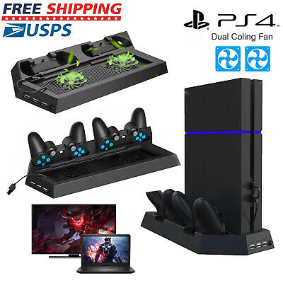 Cooling Fan For PlayStation PS4 Dual Controller Charger Station Vertical Stand
