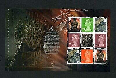 GB 2018 Booklet pane GAME OF THRONES SG U3072e  MNH / UMM FV£4.09