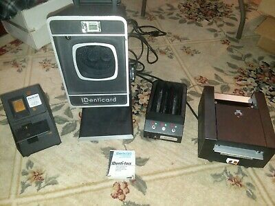 Vintage POLAROID IDENTICARD CAMERA MODEL ULT-4 & ACCESSORIES  Working