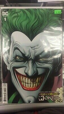 Joker Year Of The Villain 1 Retailer Variant Cover By Brian Bolland In Hand