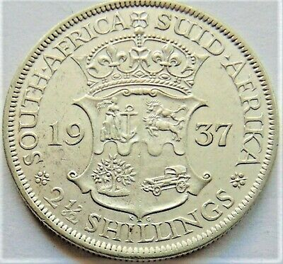1937 SOUTH AFRICA, George VI silver 2 1/2 Shillings grading Good VERY FINE.