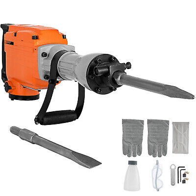 2200W Electric Demolition Jackhammer Jack Hammer Drill Concrete Breaker 2 Chisel