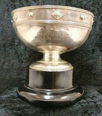 Antique Walker and Hall Large Vintage Silver Plate Engraved Bowl on Stand (D5)