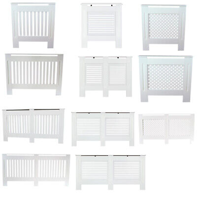 White MDF Painted Radiator Cover Cabinet Vertical//Horizontal Grill XS//S//M//L//XL