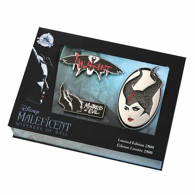 Maleficent 2 Mistress of Evil Pin Set Limited Edition Pins Disney Store Japan