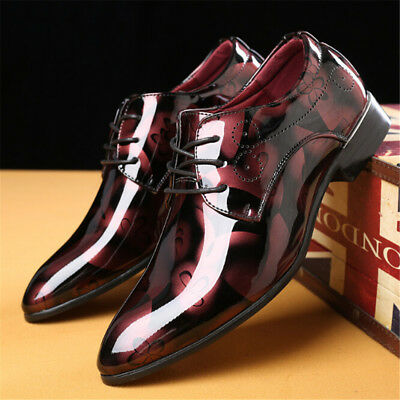 New Mens Leather Shoes Slip On Italian Smart Formal Wedding Office Shoes Size