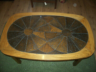 Lsygaard Mobler Danish large tiled-top coffee table. Excellent condition