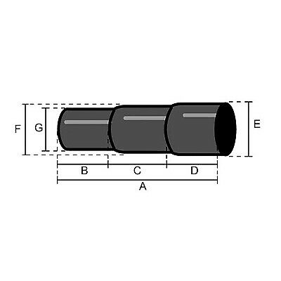 Jetex Exhaust Stepped Sleeve 2 Inch In Aluminised Steel