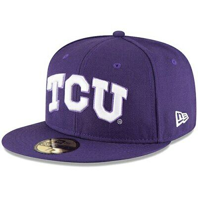 TCU Horned Frogs New Era Basic 59FIFTY Fitted Hat - Purple
