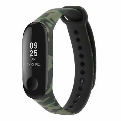 ⭐⭐ ⭐Cinturino Morbido Mimetico Per Xiaomi Mi Band 3 Smart Watch Green / Black