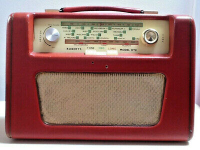 ROBERTS RT8 VINTAGE 2BAND TRANSISTOR RADIO forRepair/with Technical details