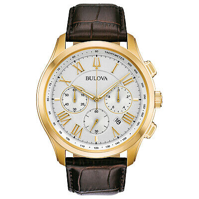 Bulova Men's Quartz Classic Collection Six-Hand Chronograph 46.5mm Watch 97B169