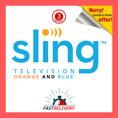 SlingTV  | Orange + Blue + | plus EXTRAS | 3 Warranty fast delivery and support