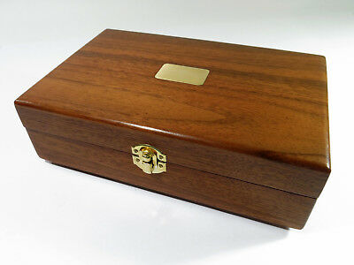 Restored and Repurposed Antique Solid Walnut Humidor—Document, Jewelry, Trinket