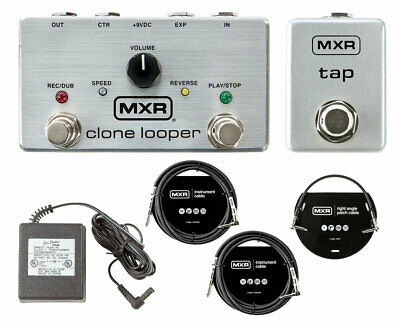 MXR M303 Clone Looper + MXR M199 Tap Tempo Switch + Power Supply + Cables