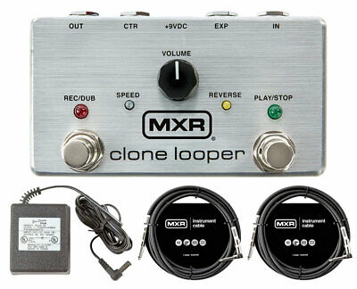 MXR M303 Clone Looper + Power Supply + Instrument Cables