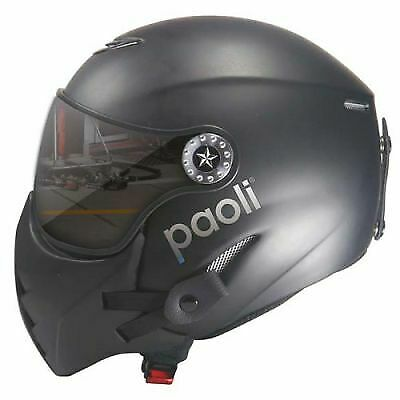 Paoli Pit Stop Helmet with Visor – Size M (58cm) in Black