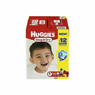 HUGGIES Snug & Dry Baby Diapers Size 6, 140 count