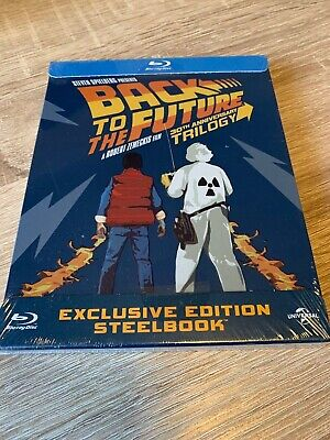 Back To The Future Trilogy 30Th Anniversary - Steelbook Bluray Brand New/Sealed