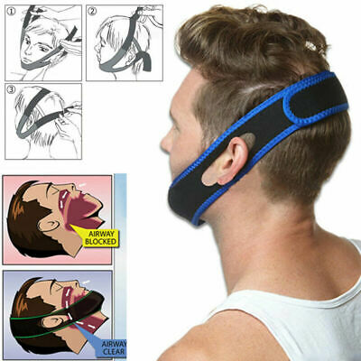 Anti Snoring Chin Strap Belt Stop Snore Device Apnea Jaw Support Sleep Solution