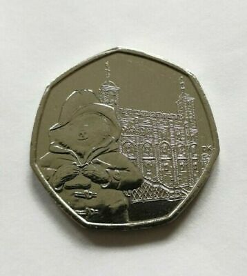 Paddington Bear at the Tower 50p - 2019 Fifty Pence coin x 1 in VGC