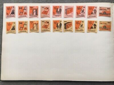 """Matchbox Labels Hungary Very Old Vintage """"Home"""" Complete Set Of 18"""