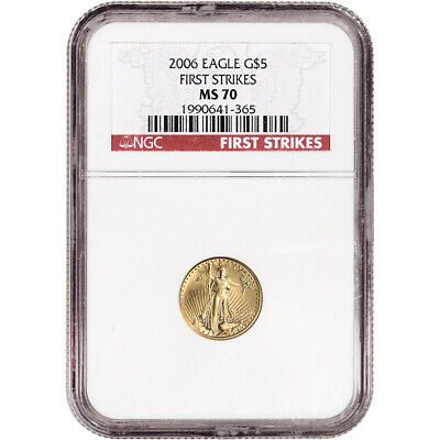 2006 American Gold Eagle 1/10 oz $5 - NGC MS70 - First Strikes