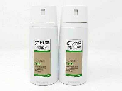 2 Axe Antiperspirant Dry Spray Signature Forest No Visible Residue 48Hr Fresh