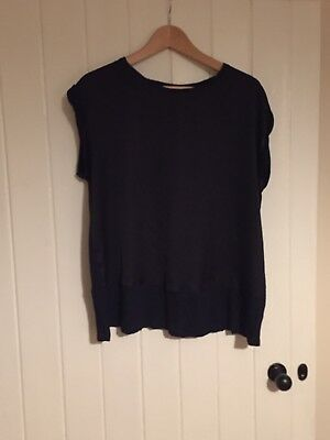Mothercare (blooming Marvelous) Navy Maternity T-shirt, Medium, Pre Owned